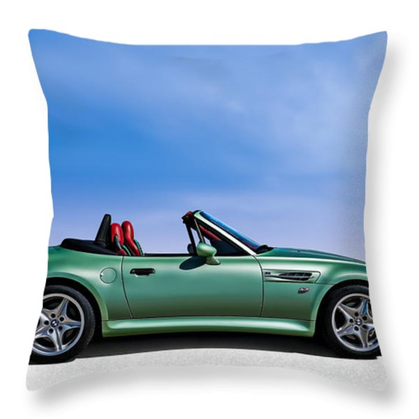 M Topless Throw Pillow by Douglas Pittman
