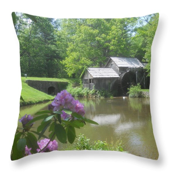 Mabry Mill In May Throw Pillow by Diannah Lynch
