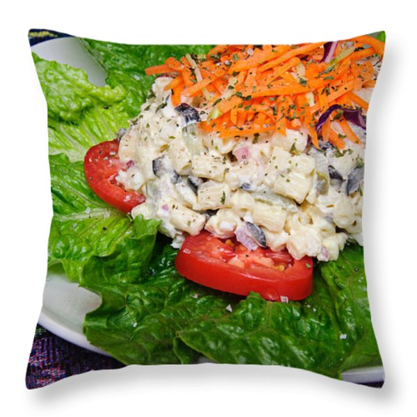 Macaroni Salad 2 Throw Pillow by Andee Design