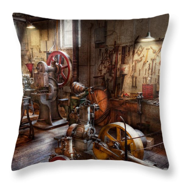Machinist - A Room Full Of Memories  Throw Pillow by Mike Savad