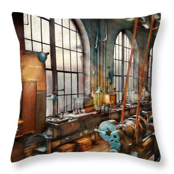 Machinist - Back in the days of yesterday Throw Pillow by Mike Savad