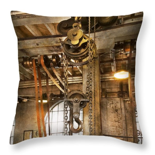 Machinist - In the age of industry Throw Pillow by Mike Savad