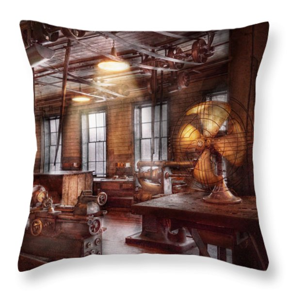 Machinist - The fan club Throw Pillow by Mike Savad