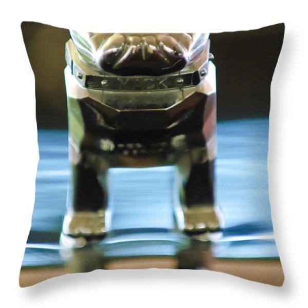 Mack Truck Hood Ornament 2 Throw Pillow by Jill Reger