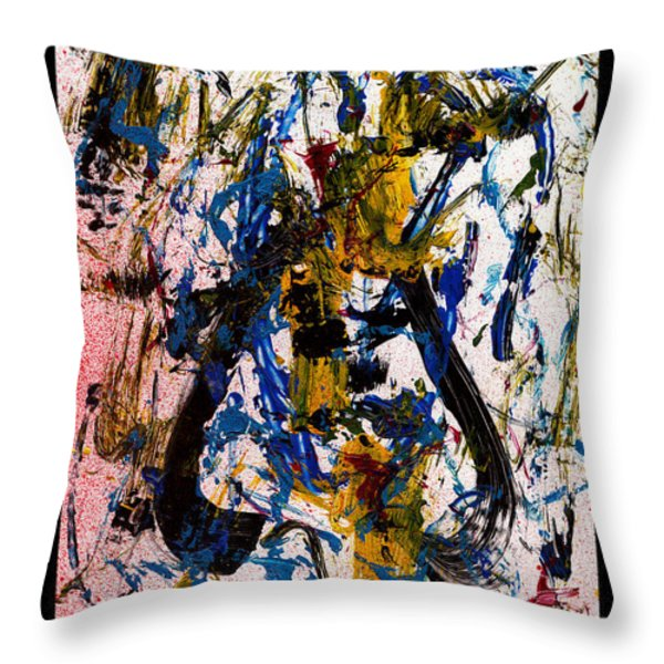 Mad Really Mad - White Throw Pillow by Manuel Sueess