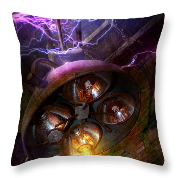 Mad Scientist - Your operation was a success Throw Pillow by Mike Savad