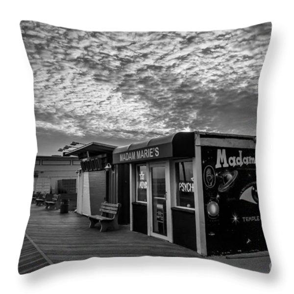 Madam Marie's Throw Pillow by David Rucker