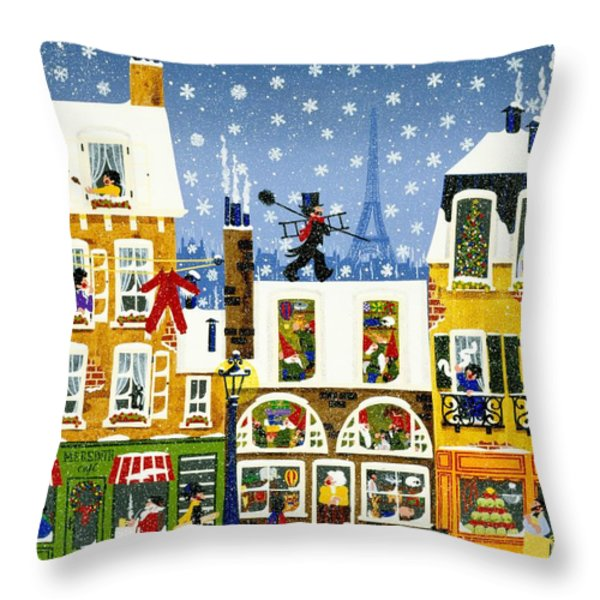Made In Paris Throw Pillow by Merry  Kohn Buvia