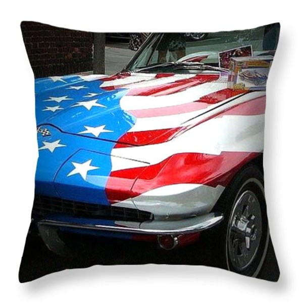 Made In Usa Throw Pillow by M and L Creations