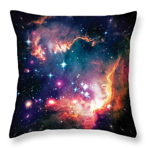 Magellanic Cloud 1 Throw Pillow by The  Vault - Jennifer Rondinelli Reilly