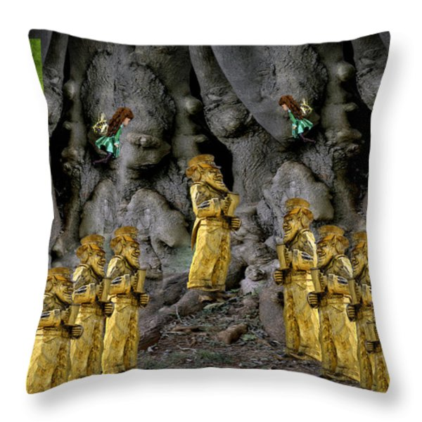 Magic As The Tree People Celebrate Health Throw Pillow by LeeAnn McLaneGoetz McLaneGoetzStudioLLCcom