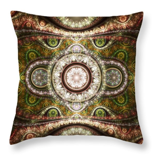 Magic Carpet Throw Pillow by Anastasiya Malakhova