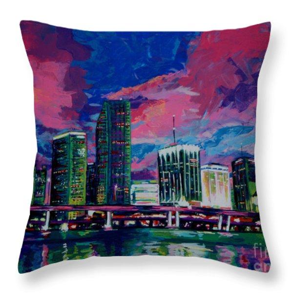 Magic City Throw Pillow by Maria Arango