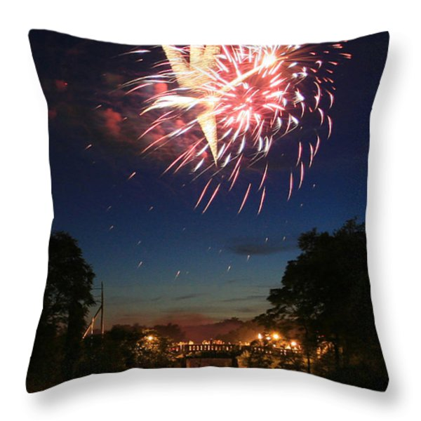 Magic in the Sky Throw Pillow by Paula Guttilla