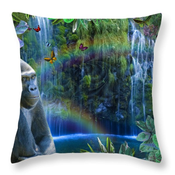 Magic Jungle Throw Pillow by Alixandra Mullins