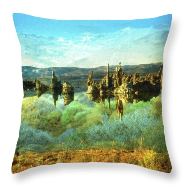 Magic Lake - Fantasy Landscape Throw Pillow by Peter Fine Art Gallery  - Paintings Photos Digital Art