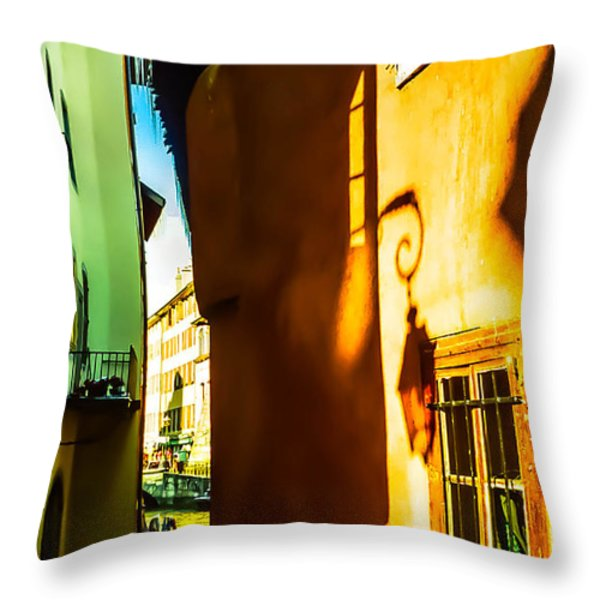 Magic Lantern on the Walls of Annecy Throw Pillow by Jenny Rainbow