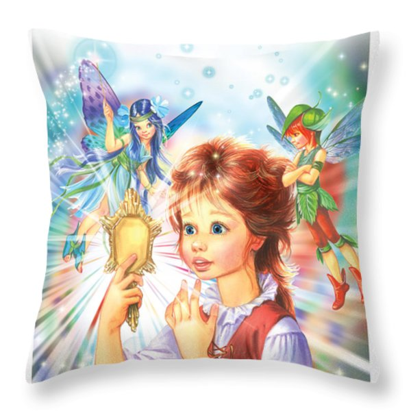 Magic Mirror Throw Pillow by Zorina Baldescu