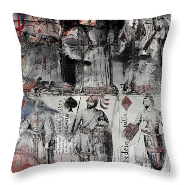 Magic Moonlight - B Throw Pillow by Corporate Art Task Force