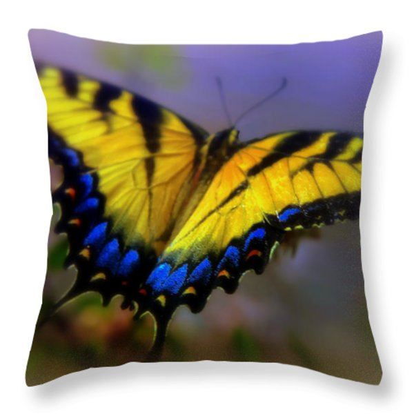 Magic Of Flight Throw Pillow by Karen Wiles