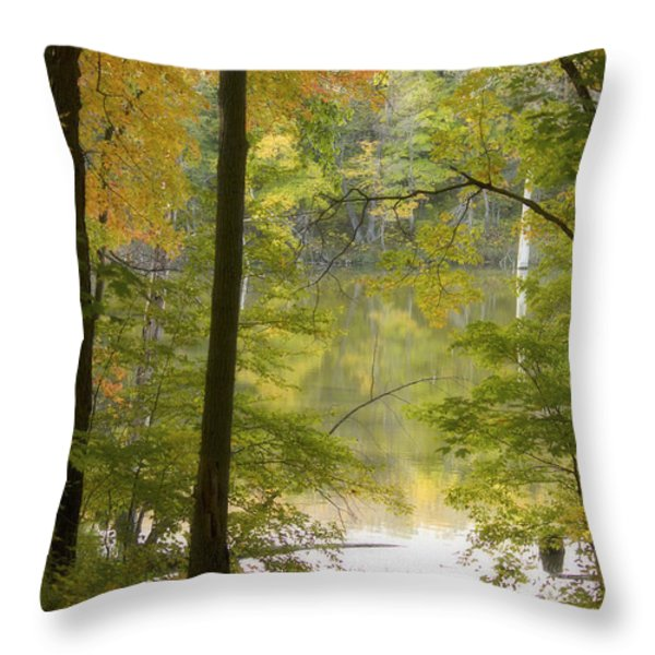 Magical Maplewood Throw Pillow by Penny Meyers