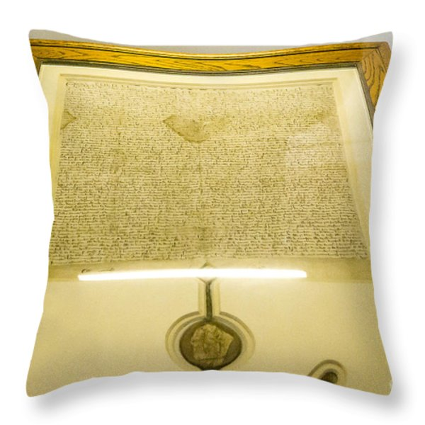 Magna Carta Throw Pillow by Steven Ralser