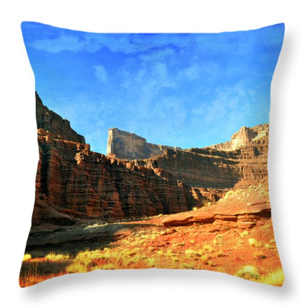 Magnificent Butte Throw Pillow by Marty Koch