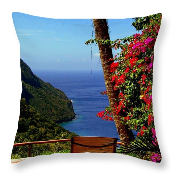Magnificent Ladera Throw Pillow by KAREN WILES