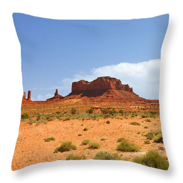 Magnificent Monument Valley Throw Pillow by Christine Till