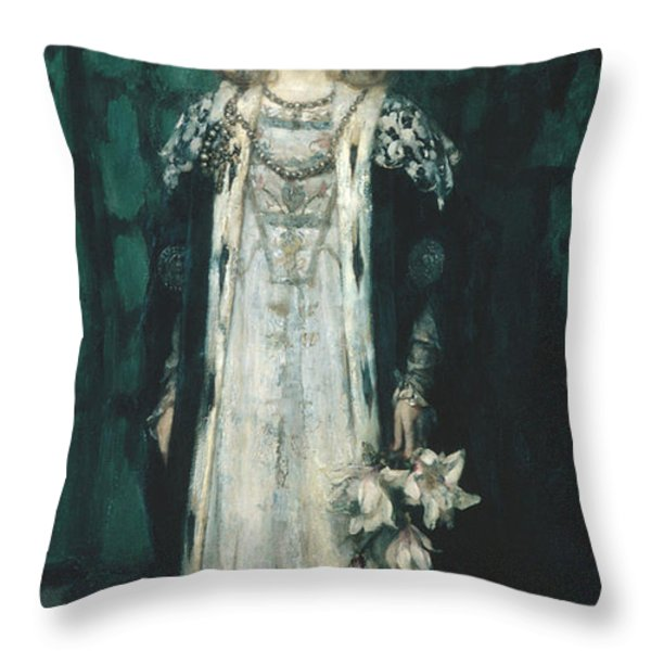 Magnolia Throw Pillow by James Shannon