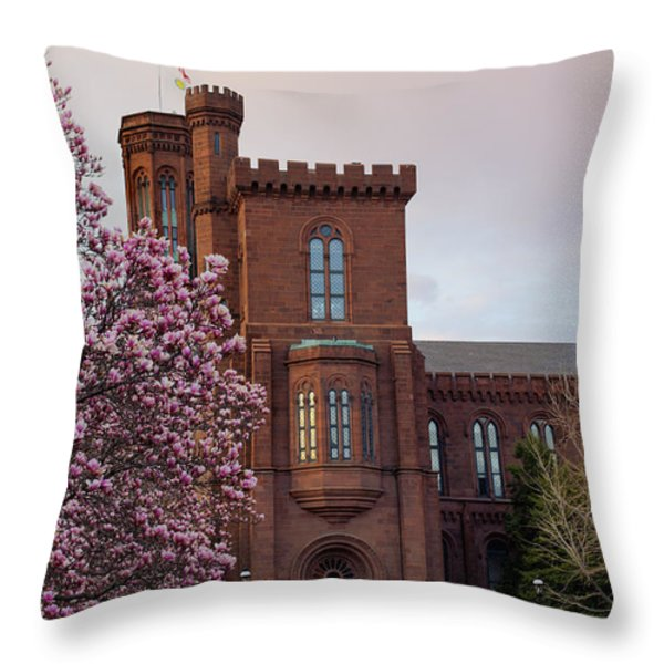Magnolias Near The Castle Throw Pillow by Andrew Pacheco