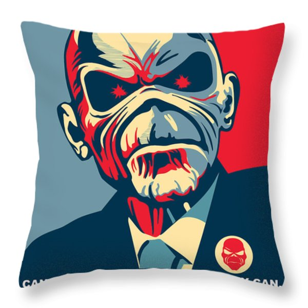 MAIDEN No.01 Throw Pillow by Unknow