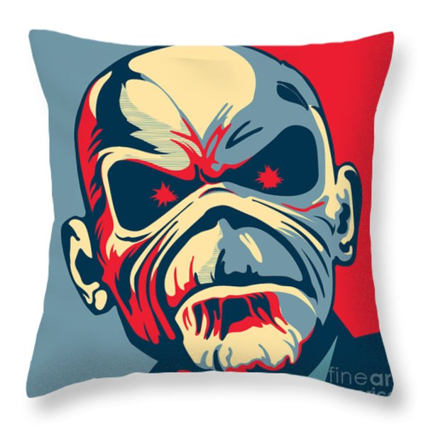 Maiden No.02 Throw Pillow by Unknow