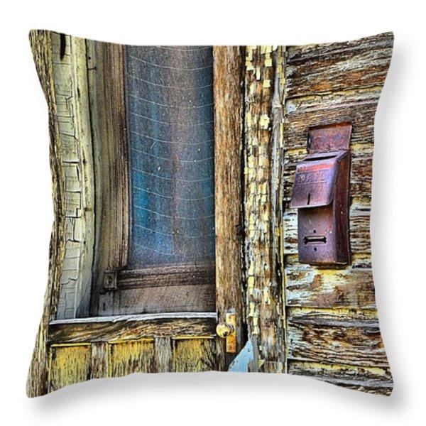 Mail Call Throw Pillow by Lauren Hunter