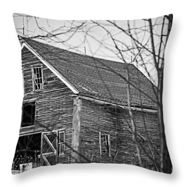Maine Barn Throw Pillow by Alana Ranney