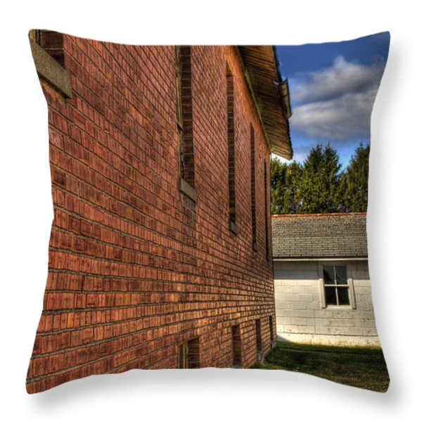 Maintenance Shop And Shed Throw Pillow by Thomas Young