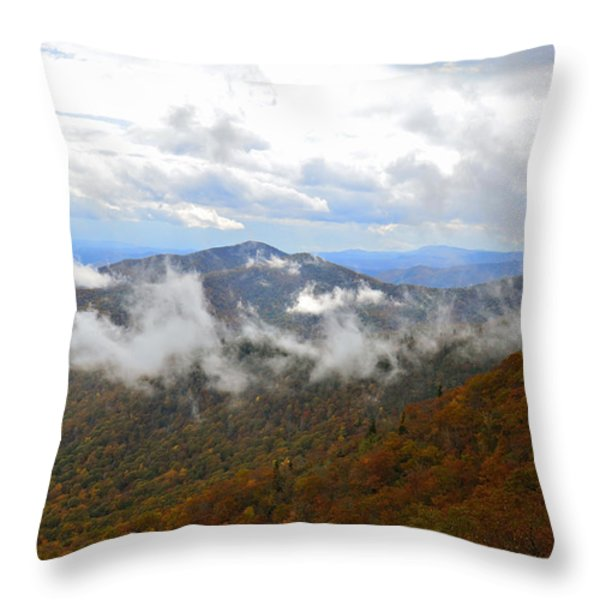 Majestic Autumn Throw Pillow by Susan Leggett