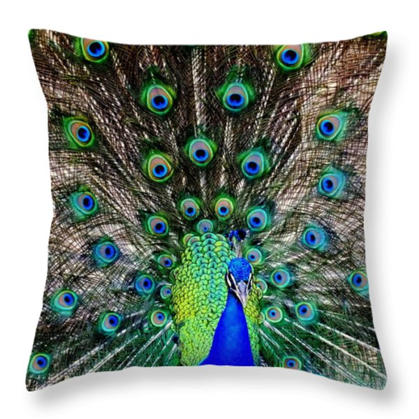 Majestic Blue Throw Pillow by Karen Wiles
