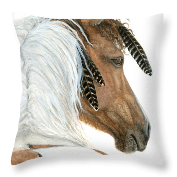 Majestic Horse Series 94 Throw Pillow by AmyLyn Bihrle