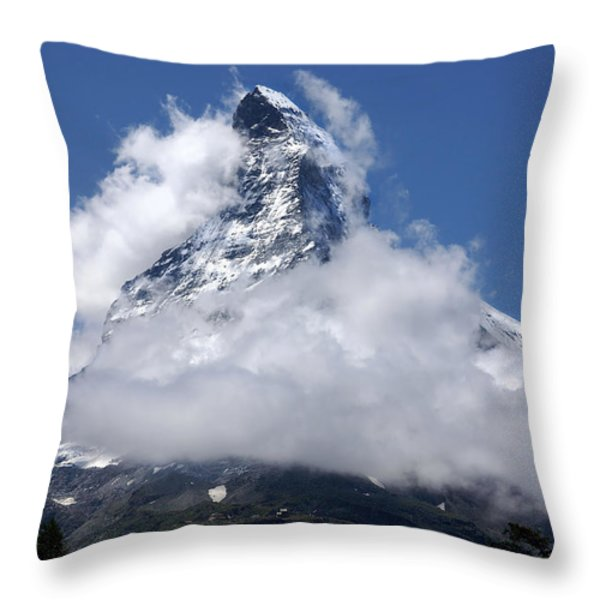 Majestic Mountain  Throw Pillow by Annie  Snel