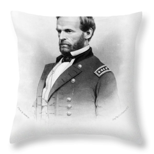Major General William T Sherman Throw Pillow by Mountain Dreams