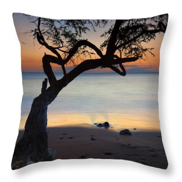 Makena Breeze Throw Pillow by Mike  Dawson