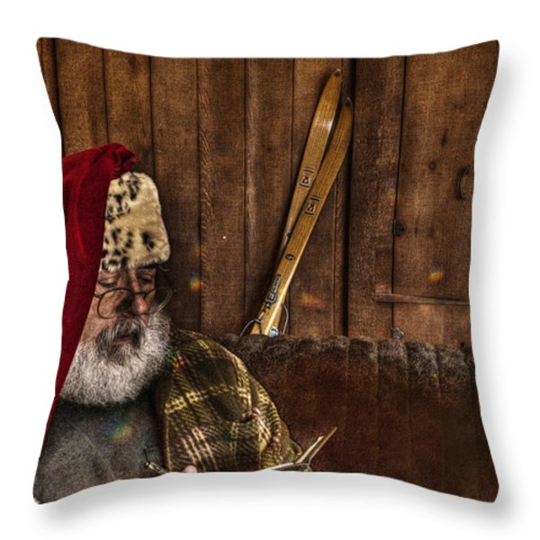Making A List Throw Pillow by William Fields