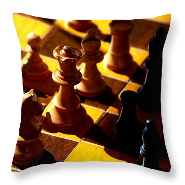 Making a Move Throw Pillow by Camille Lopez