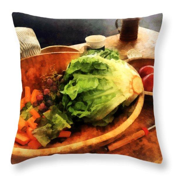 Making Waldorf Salad Throw Pillow by Susan Savad