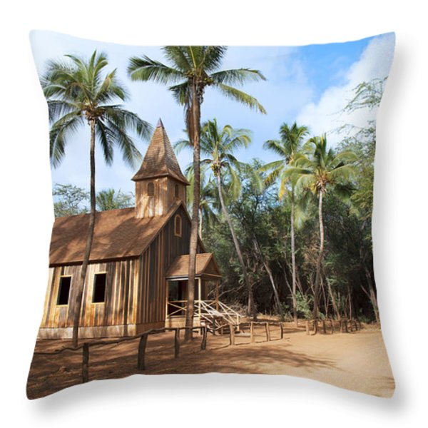 Malamalama Church Throw Pillow by Jenna Szerlag