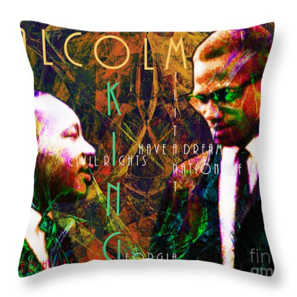 Malcolm and The King 20140205 with text Throw Pillow by Wingsdomain Art and Photography