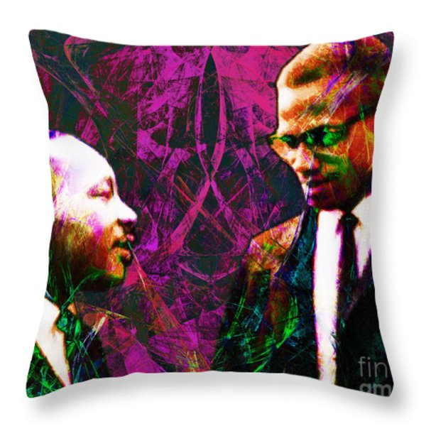 Malcolm and The King 20140205m68 Throw Pillow by Wingsdomain Art and Photography