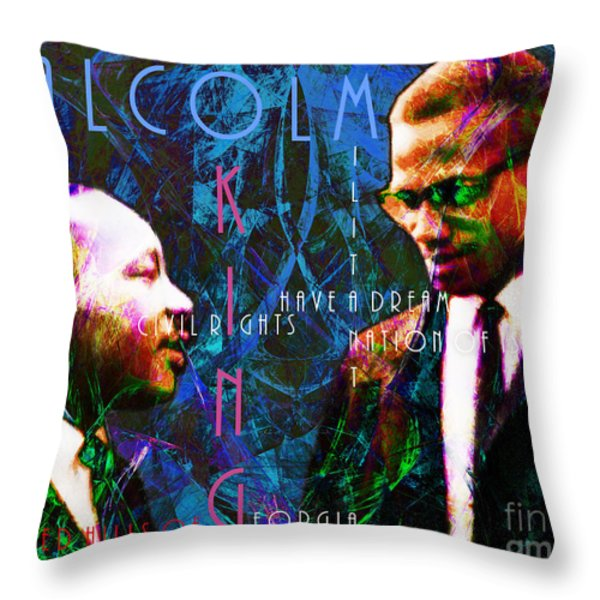 Malcolm and The King 20140205p180 with text Throw Pillow by Wingsdomain Art and Photography