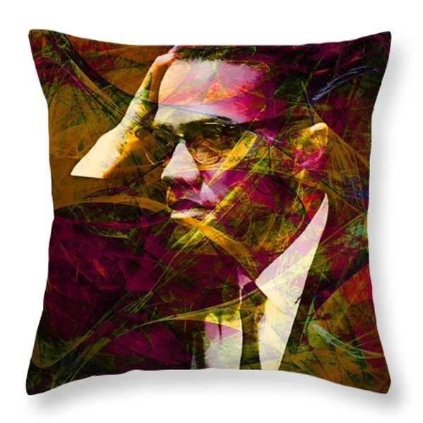 Malcolm X 20140105 Throw Pillow by Wingsdomain Art and Photography